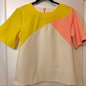 Color Block Blouse